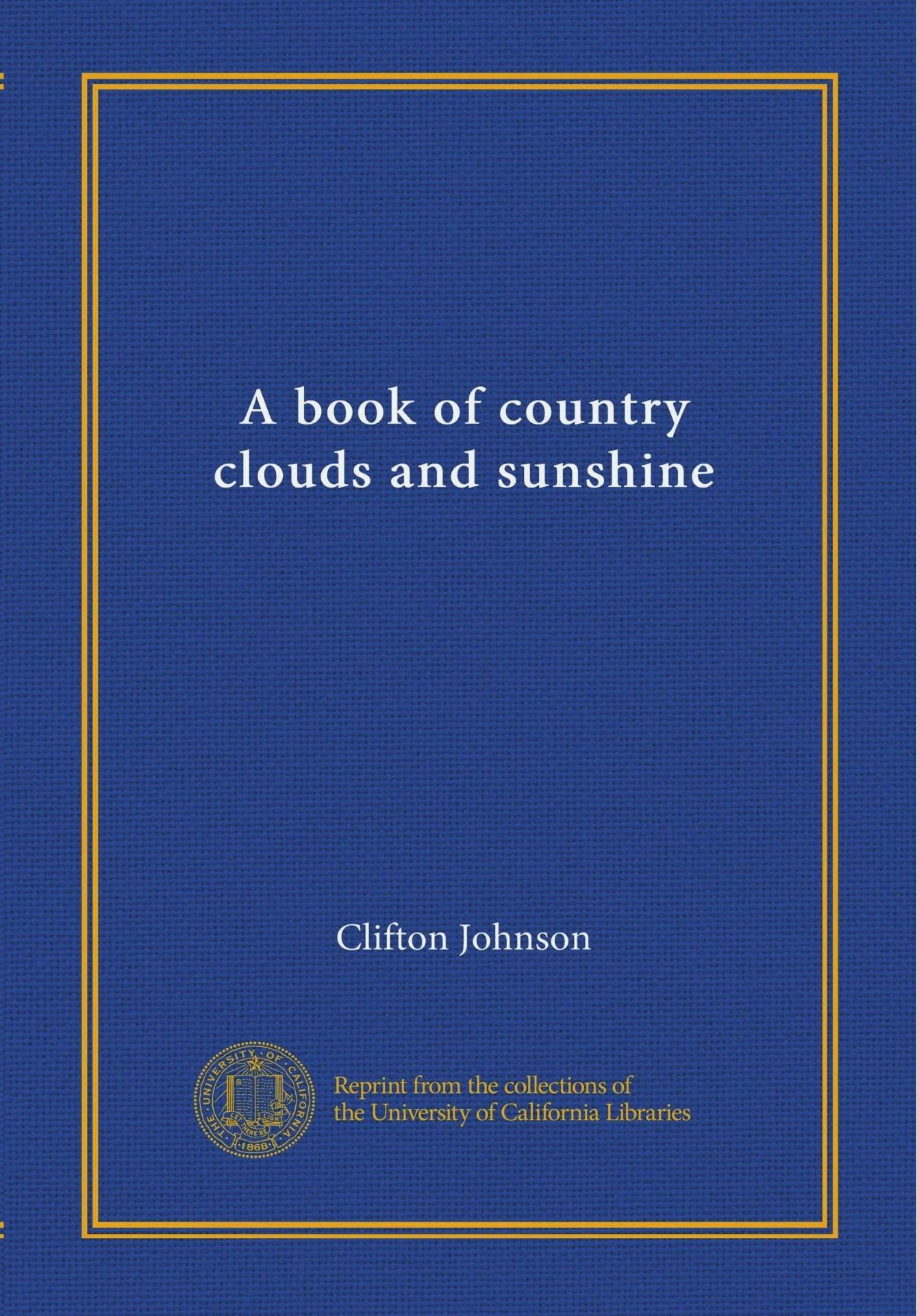 Download A book of country clouds and sunshine ebook