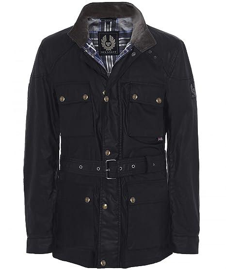 b86b23be7e6f Belstaff Men s Waxed Roadmaster Jacket UK 46 Black  Amazon.co.uk  Clothing