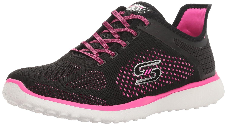 Skechers Sport Women's Microburst Supersonic Fashion Sneaker B01J815D3A 10 B(M) US|Black/Hot Pink