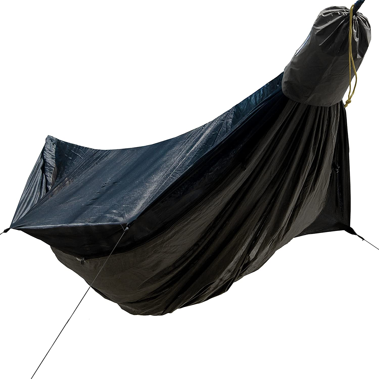 Go Outfitters Goキャンプハンモック2.0 W/内蔵Mosquito Net – スレートグレー11 ' Long x 64インチWide | Includes 2プレミアムアルミカラビナ、迅速な導入バッグ、4 Stakes & 4衝撃Cords   B07B9ZZPLG