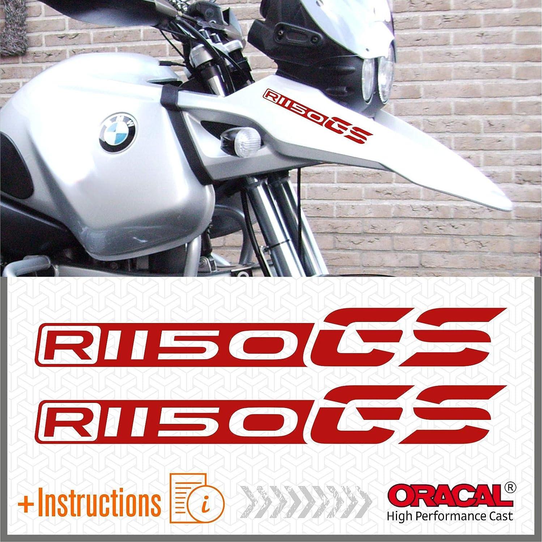 Rosso 2pcs adh/ésif Compatible avec Les Motos R1150 GS BMW Motorrad R 1150 r1150gs