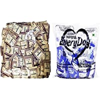 Mawana Brown Sugar Sachets, 200 Psc & Everyday Dairy Creamer, 450g Combo Pack