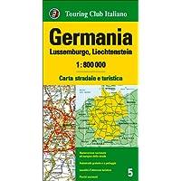 Germania, Lussemburgo, Liechtenstein 1:800.000. Carta stradale e turistica. Ediz. multilingue