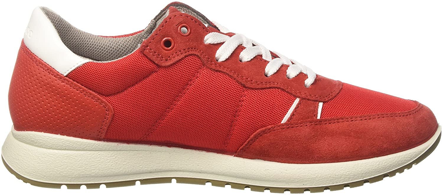 Mens Uad 11203 Hi-Top Trainers, Red Igi & Co
