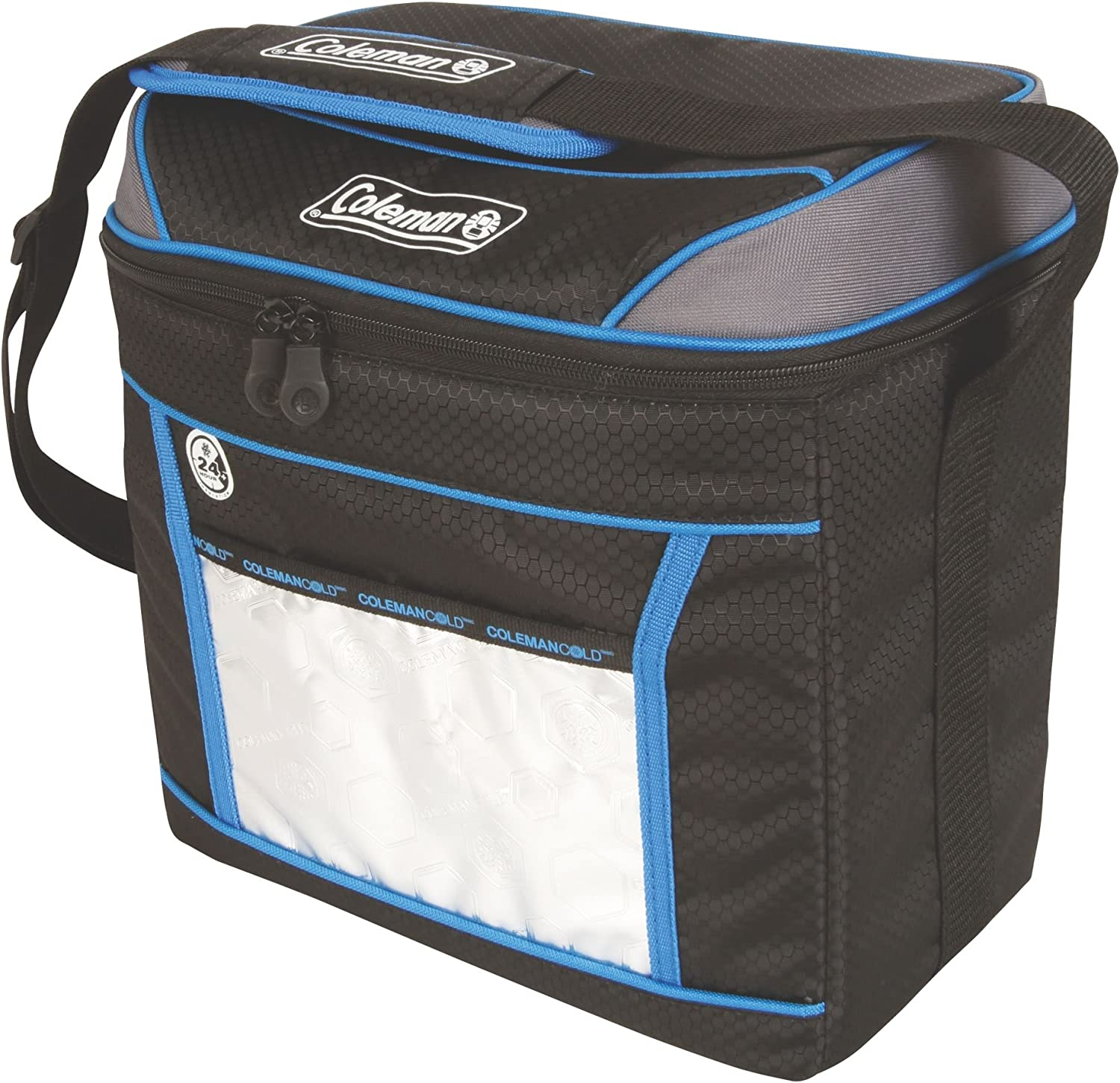 Coleman, Soft Cooler, 9 Cans, Blue