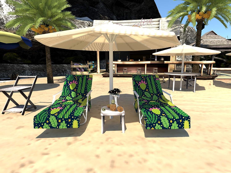Telo copridivano per Sedia da Spiaggia con Tasche Laterali in Microfibra Prendisole per Sdraio Piscina GZGZADMC -Copertura per Sedia da Spiaggia Giardino