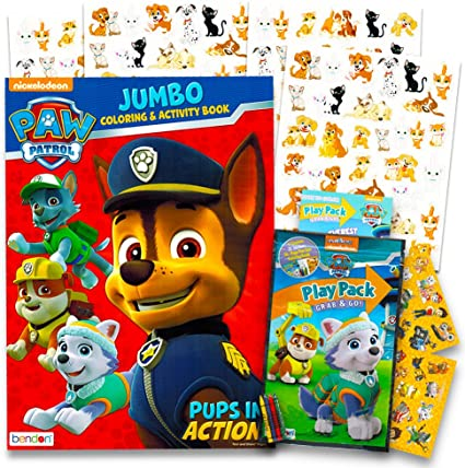 - Amazon.com: Paw Patrol Coloring And Activity Book Set -- Jumbo Coloring Book,  Stickers And More (Coloring Activity Set): Toys & Games