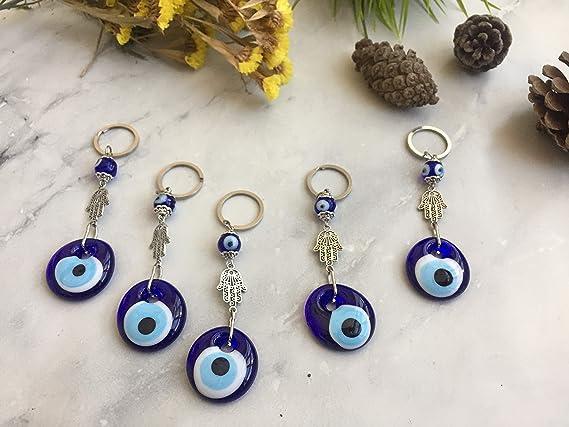 Amazon.com: Juego de 5 llaveros de amuleto con ojo turco ...