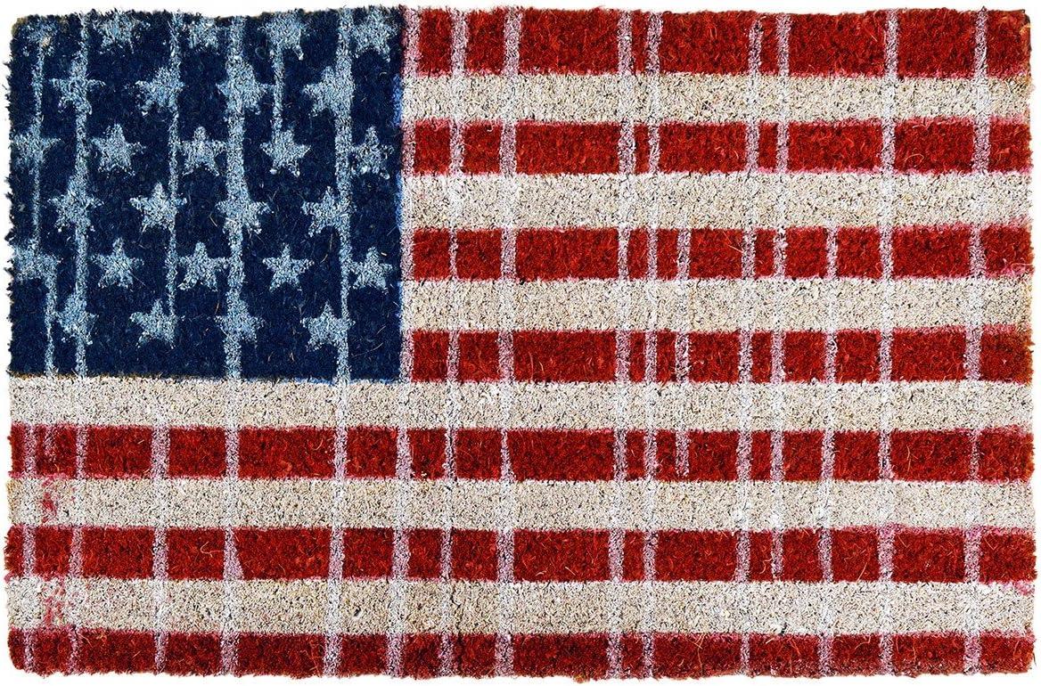 239803 felpudo antideslizante hecho en fibras de coco mod. FLAGS (40x60cm) (BANDERA AMERICANA): Amazon.es: Hogar