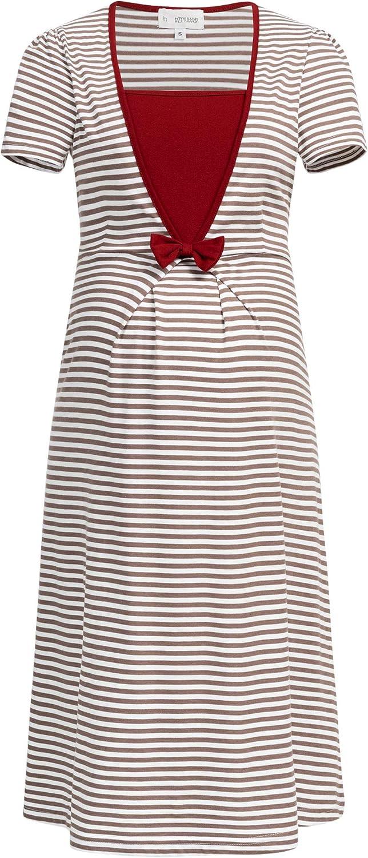 Herzmutter Camicia da Notte Premaman 2800 Camicie da Notte Allatamento e Gravidanza Camicie da Notte per Futura Mamma Camicie da Notte maternit/à Ospedale