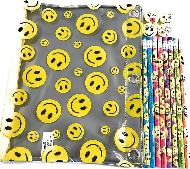 Emoji - Estuche para lápices y gomas de borrar: Amazon.es: Oficina y papelería