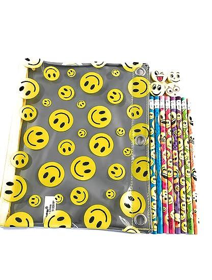 Emoji - Estuche para lápices y gomas de borrar: Amazon.es ...
