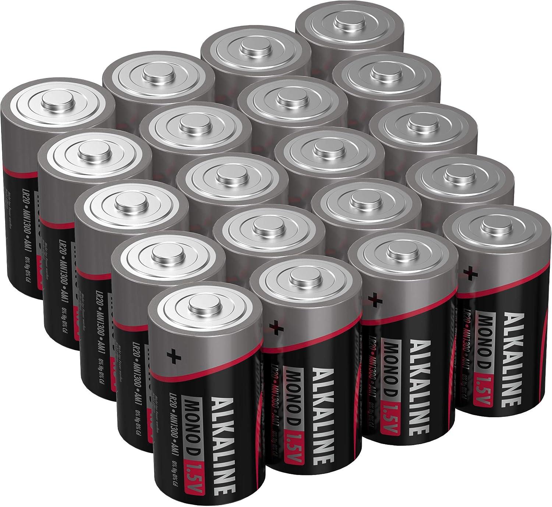 Ansmann Batterien Mono D Lr20 20 Stück 1 5v Alkaline Elektronik