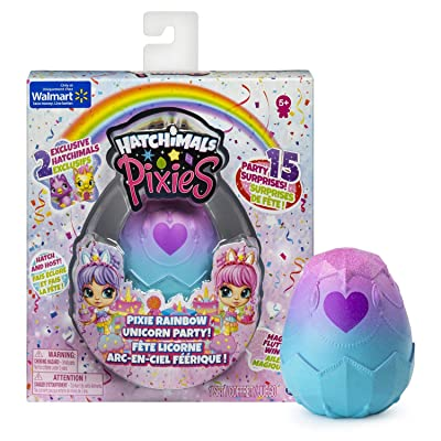 Hatchimals Pixies Exclusive - Pixie Rainbow Unicorn Party!: Toys & Games
