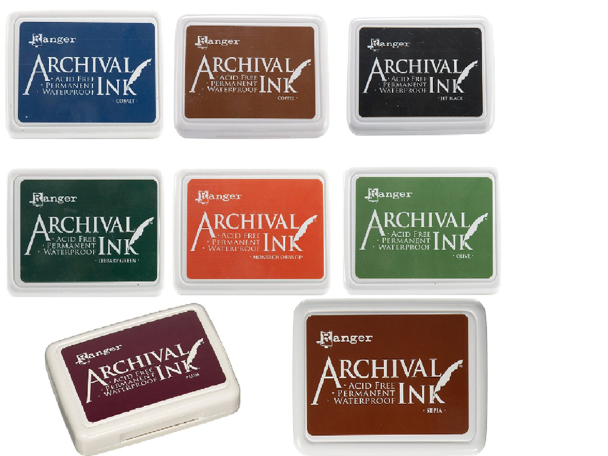 Ranger Archival Ink Pads - Set of 8 Full Size Pads