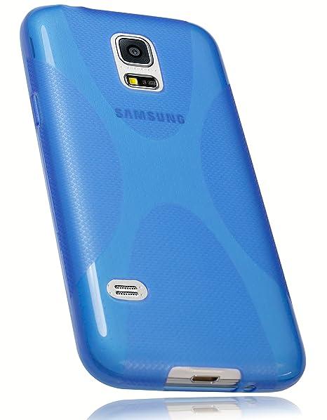 mumbi X-TPU Schutzhülle Samsung Galaxy S5 mini Hülle blau