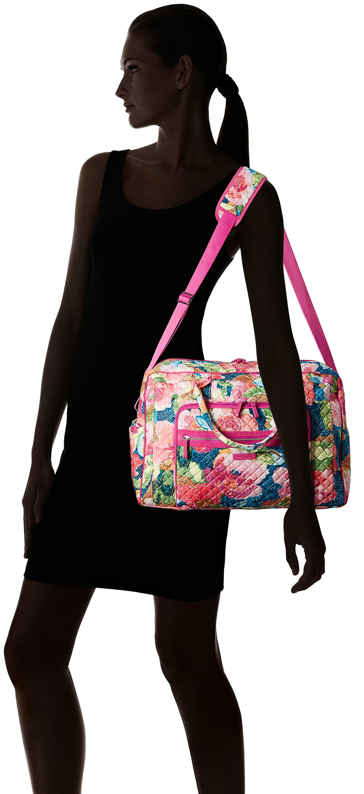 Vera Bradley Iconic Weekender Travel Bag, Signature Cotton, Superbloom by Vera Bradley (Image #7)