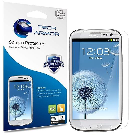 d3de4288b69 Amazon.com: Tech Armor HD Clear Film Screen Protector (Not Glass ...