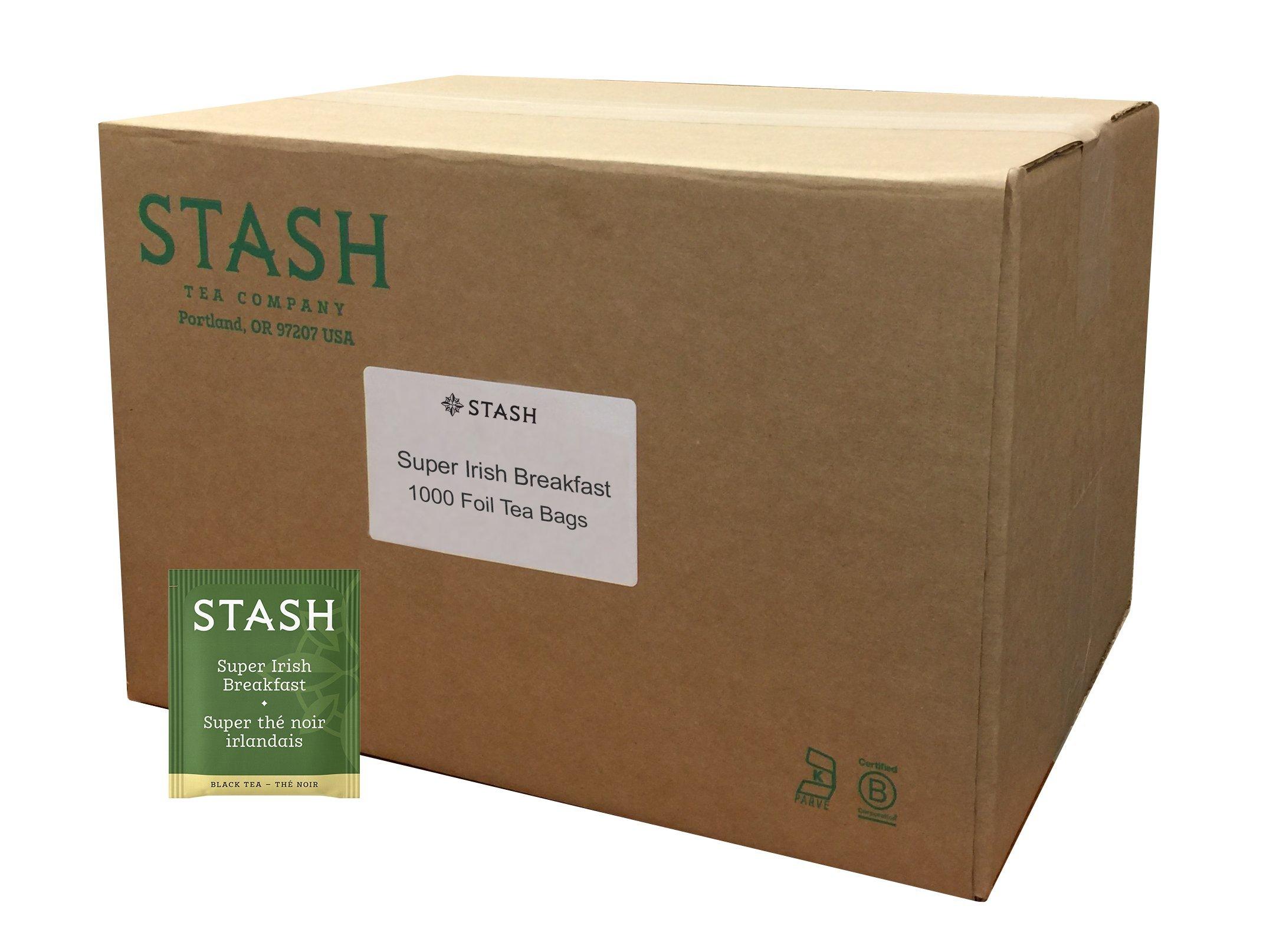 Stash Tea Super Irish Breakfast Black Tea 1000 Tea Bags in 8.8 Pound Box Individual Black Tea Bags for Use in Teapots Mugs or Cups, Brew Hot Tea or Iced Tea