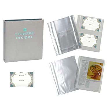 Meadowsweet Kitchens Recipe Collection Gift Sets (Turquoise/Gray w/40 cards)