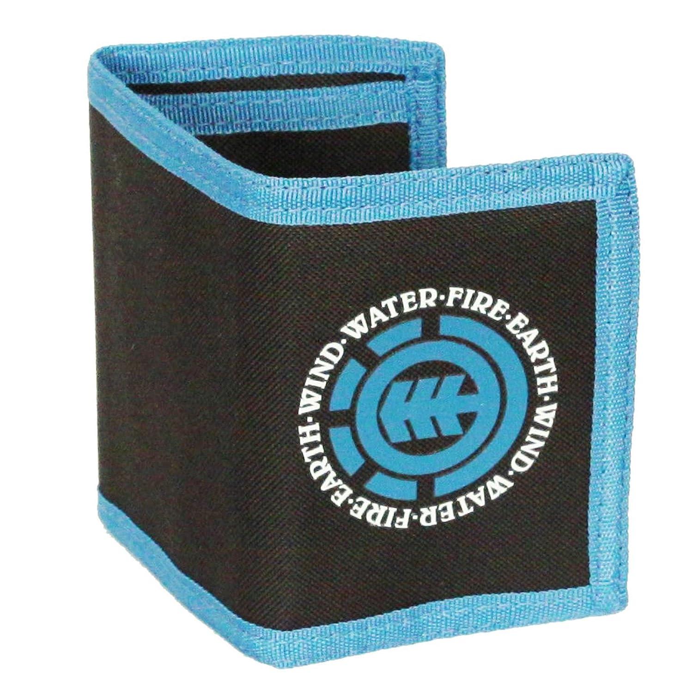 Elemento Trifold Carpeta Con bolsillos internos y la Sección de monedas con cremallera ~ carbón elemental oscura