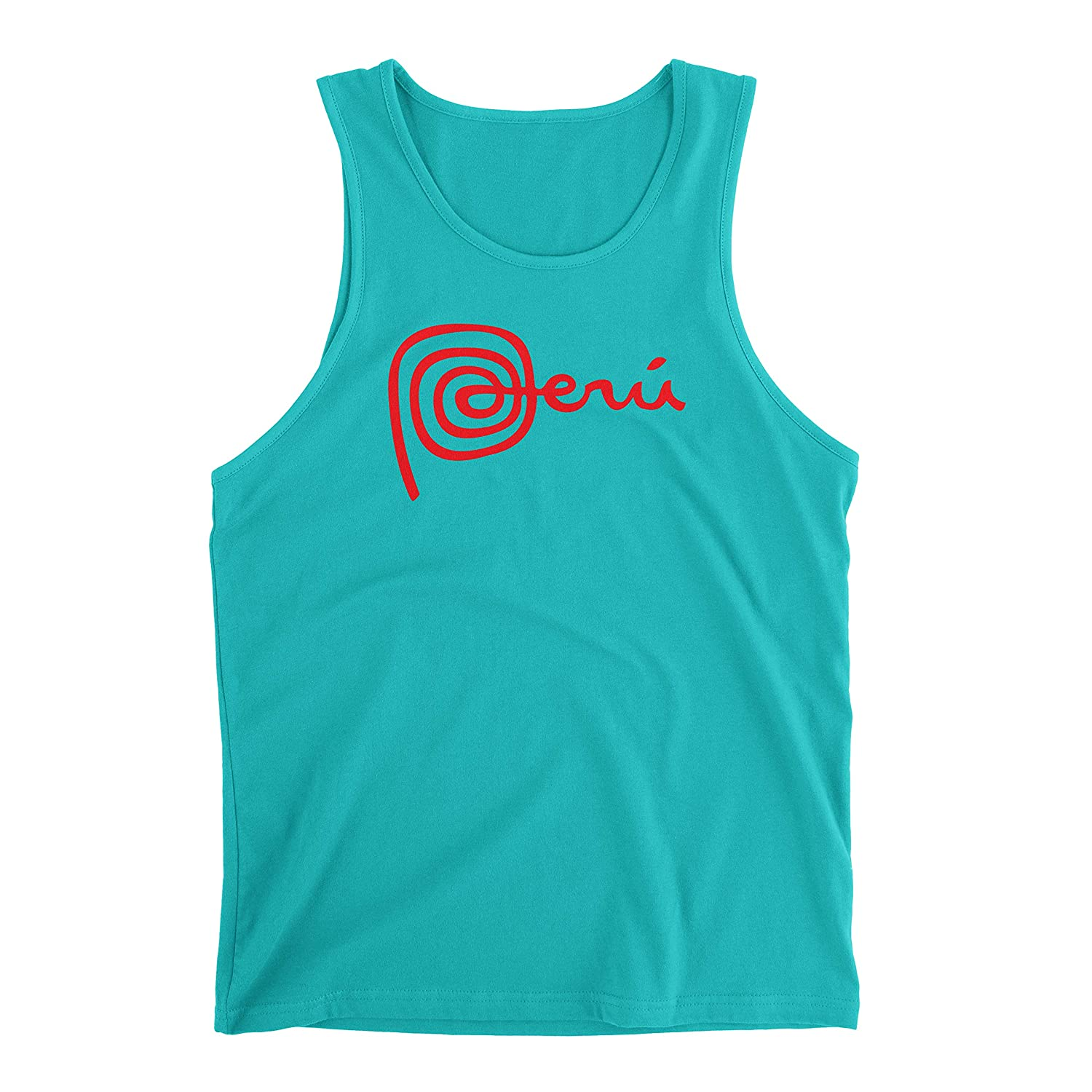 Hot4TShirts Marca Peru Tank Top for Men Sleeveless Crew Neck Design