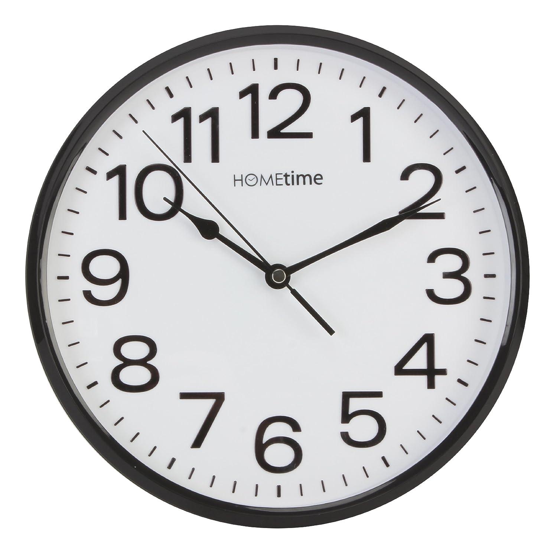 Stylish black white bold classic quartz wall clock non ticking stylish black white bold classic quartz wall clock non ticking silent amazon kitchen home amipublicfo Choice Image