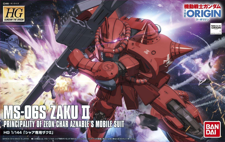 HG 1/144 MS-06S Char's Zaku II (Kidou-senshi GUNDAM The Origin)