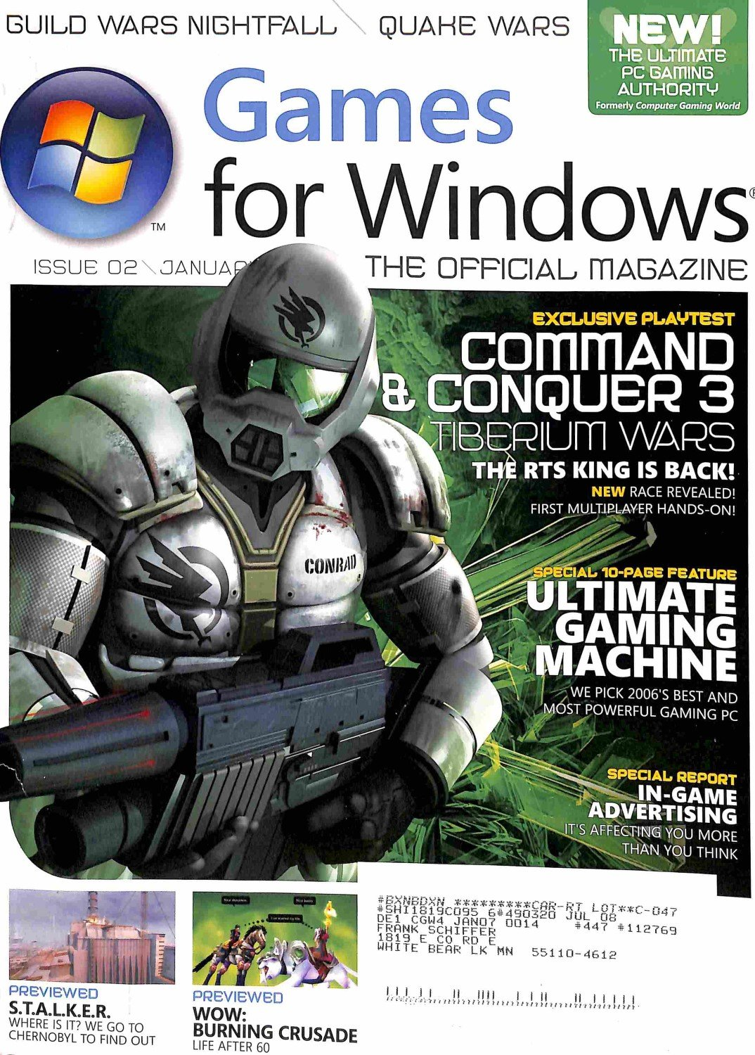 GAMES FOR WINDOWS JANUARY 2007 (THE OFFICIAL MAGAZINE, 02) pdf