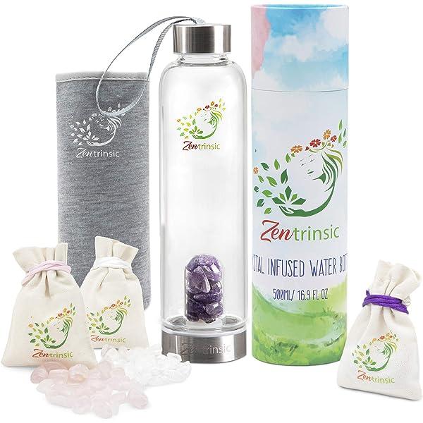 Amazon.com: Crystal Elixir - Botella de agua infundida ...