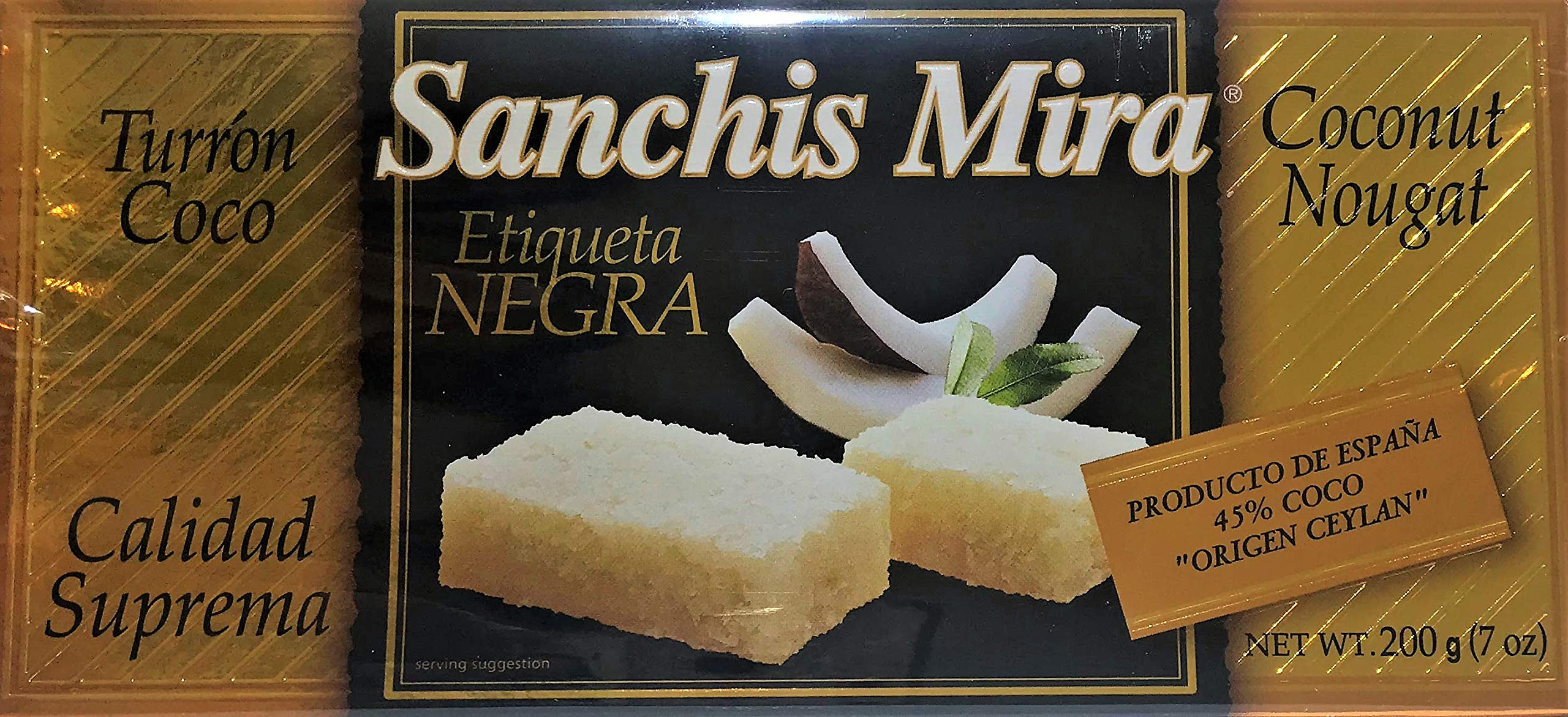 Sanchis Mira Turron de Coco Just arrived from Spain. 7 oz.