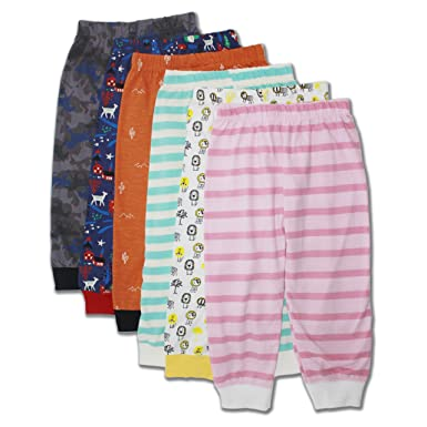 2a59d7bbe Bagright Kid s Cotton Pajama Pyjama Pant with Rib - Pack of 6 ...