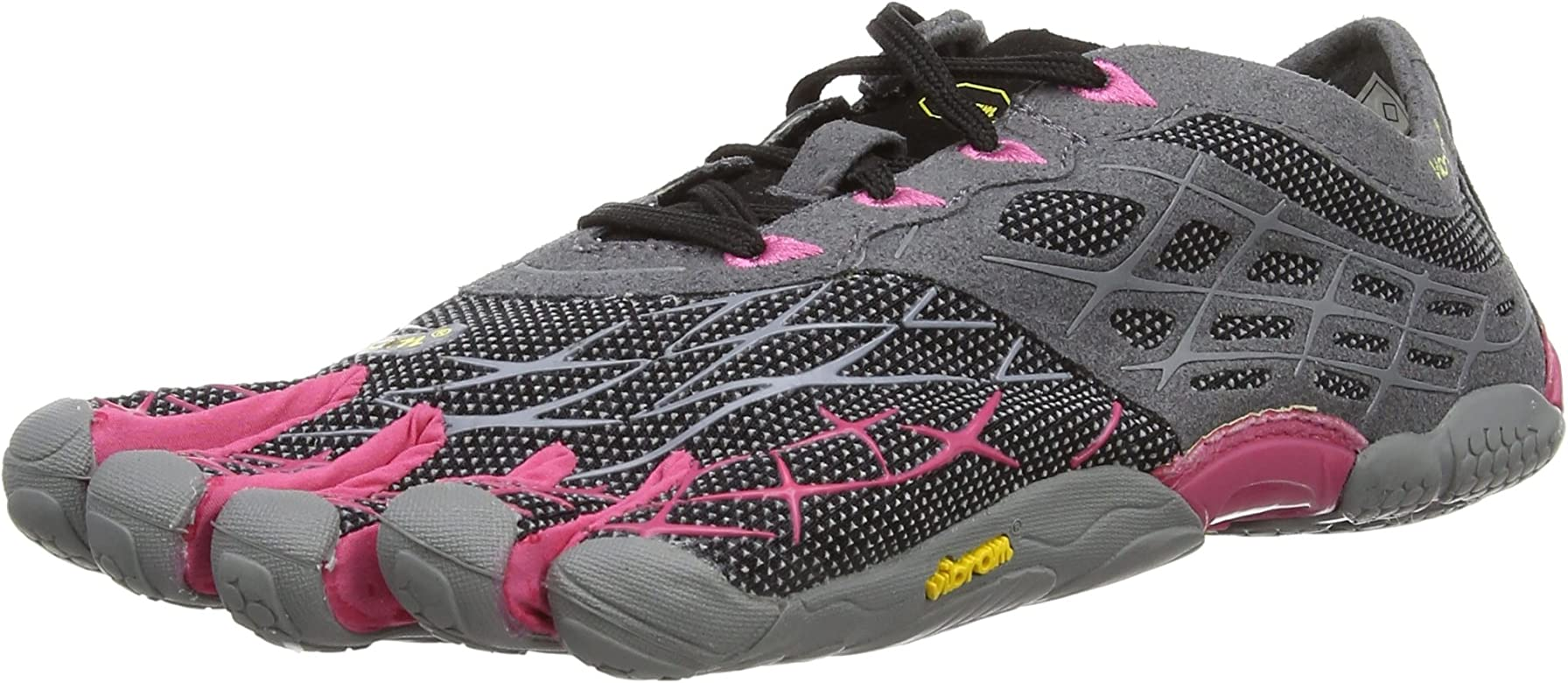 Vibram Five Fingers Seeya LS Night, Zapatillas de Running para Mujer, Black/Grey/Rose, 3.5 UK: Amazon.es: Zapatos y complementos