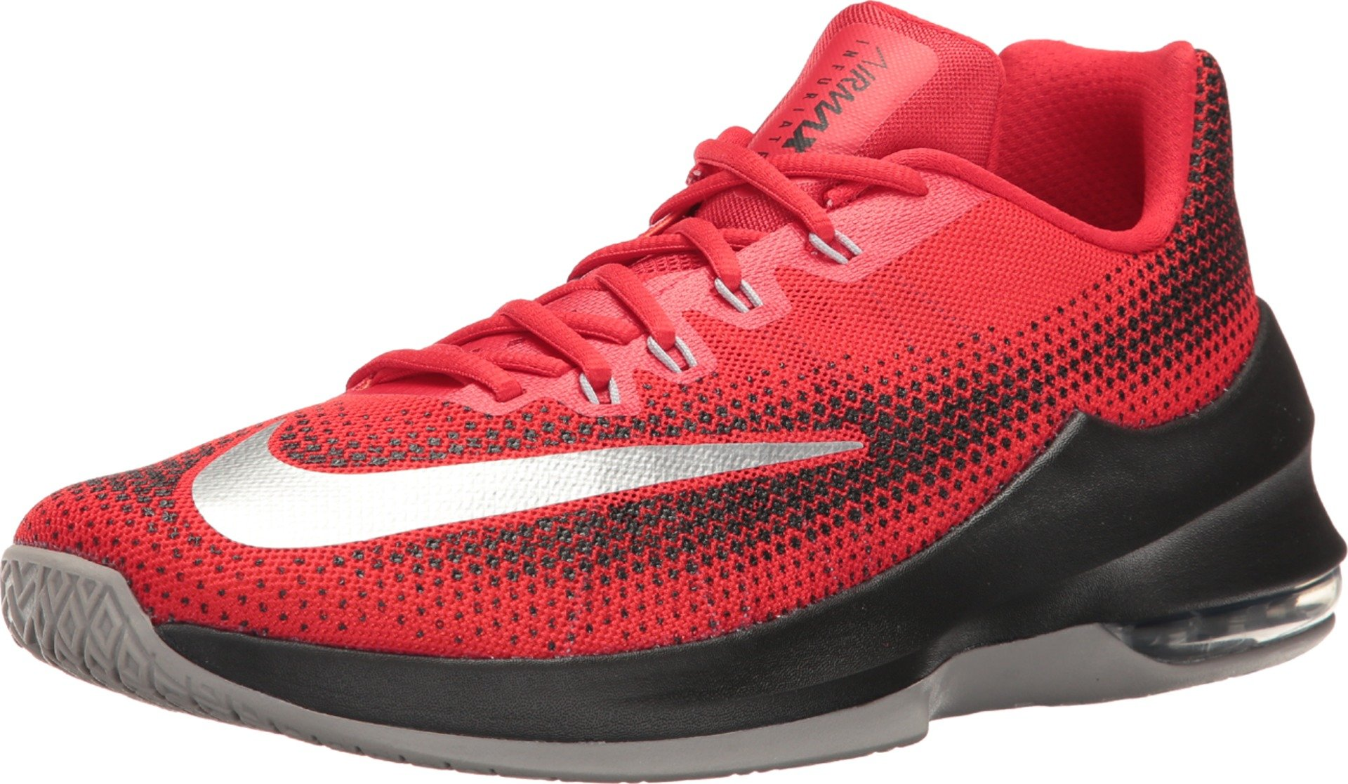 2b74168aef Galleon - Nike Mens Air Max Infuriate Low University Red/White/Black  Basketball Shoe 10.5 Men US