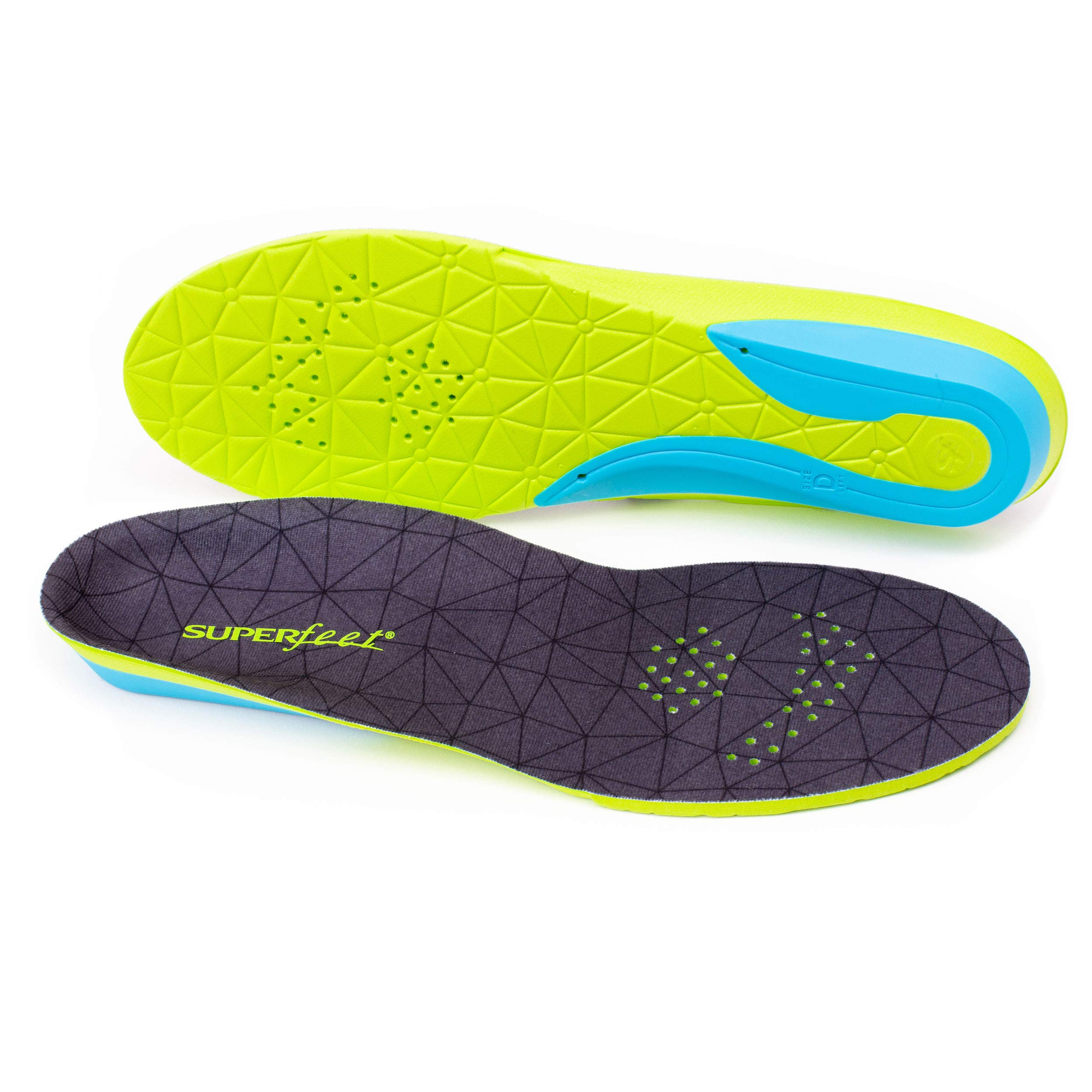 Superfeet FLEXmax, Comfort Insoles for Roomy Athletic Shoe Maximum Cushion and Support, Unisex, Emerald, Medium/D: 8.5-10 Wmns/7.5-9 Mens by Superfeet