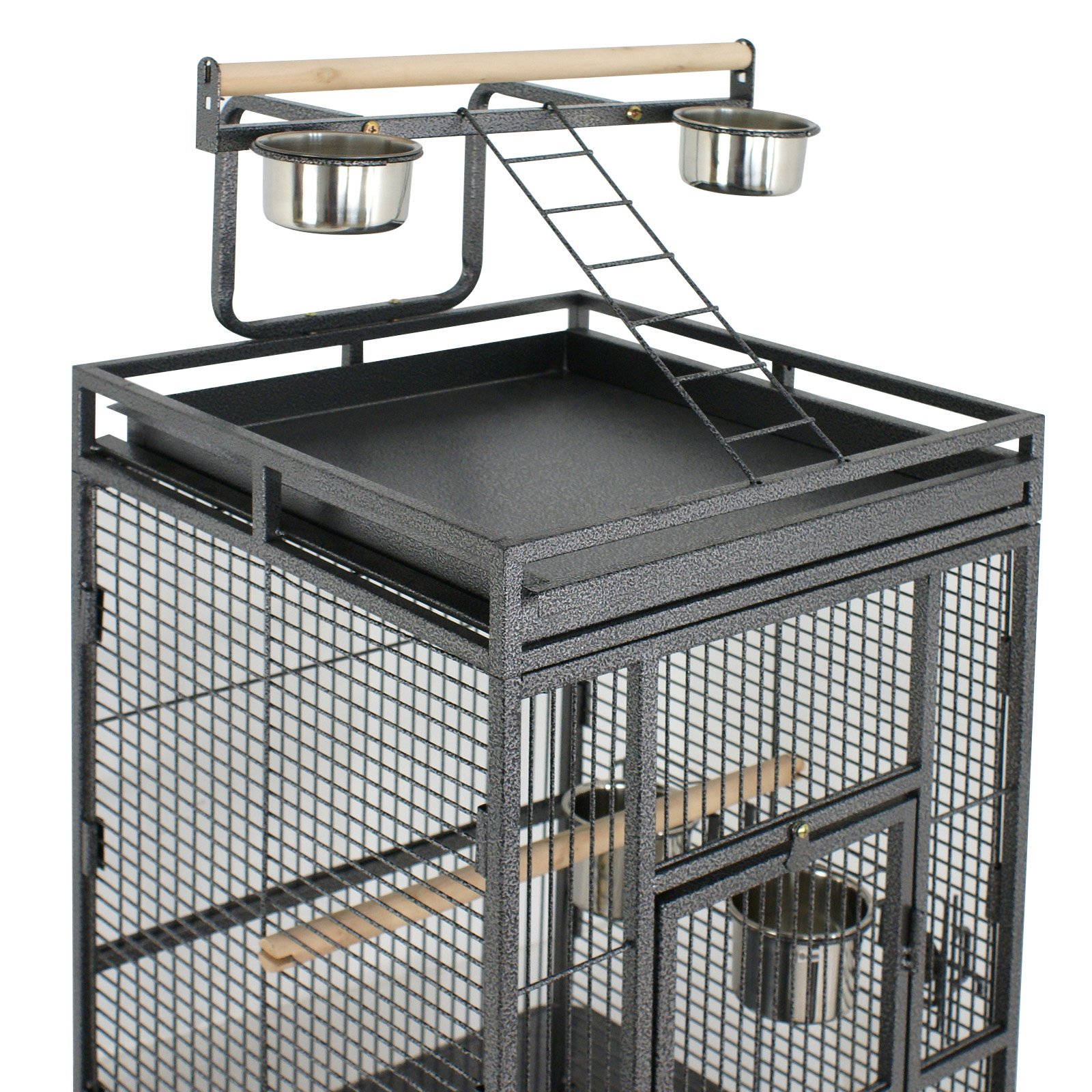 ZENY Bird Cage Wrought Iron 61-Inch Pet Bird CagePlay Top Parrot Cockatiel Cockatoo Parakeet Finches Birdcage by ZENY