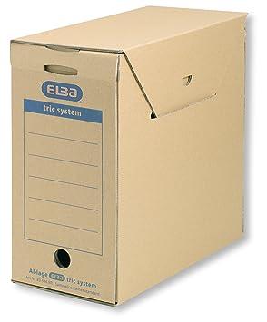 Elba 83526 - Caja de almacenamiento para archivadores y otros papeles (6 unidades), color marrón: Amazon.es: Oficina y papelería