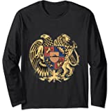 EAGLE & LION Family Crest Coat Of Arms Long Sleeve Shirt