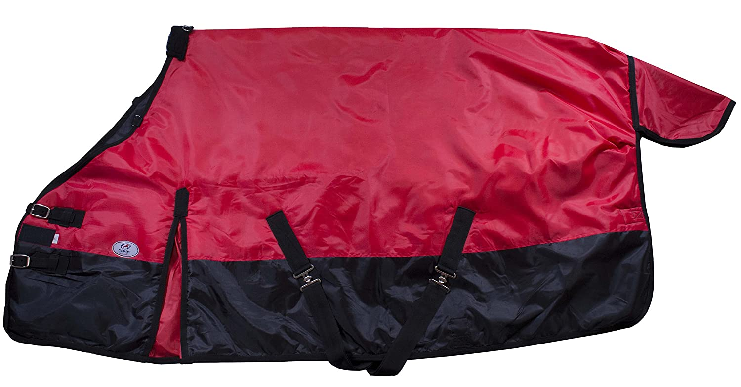 Red Black Trim 78\ Red Black Trim 78\ Derby Originals 420D Horse Winter Stable Insulated Blanket