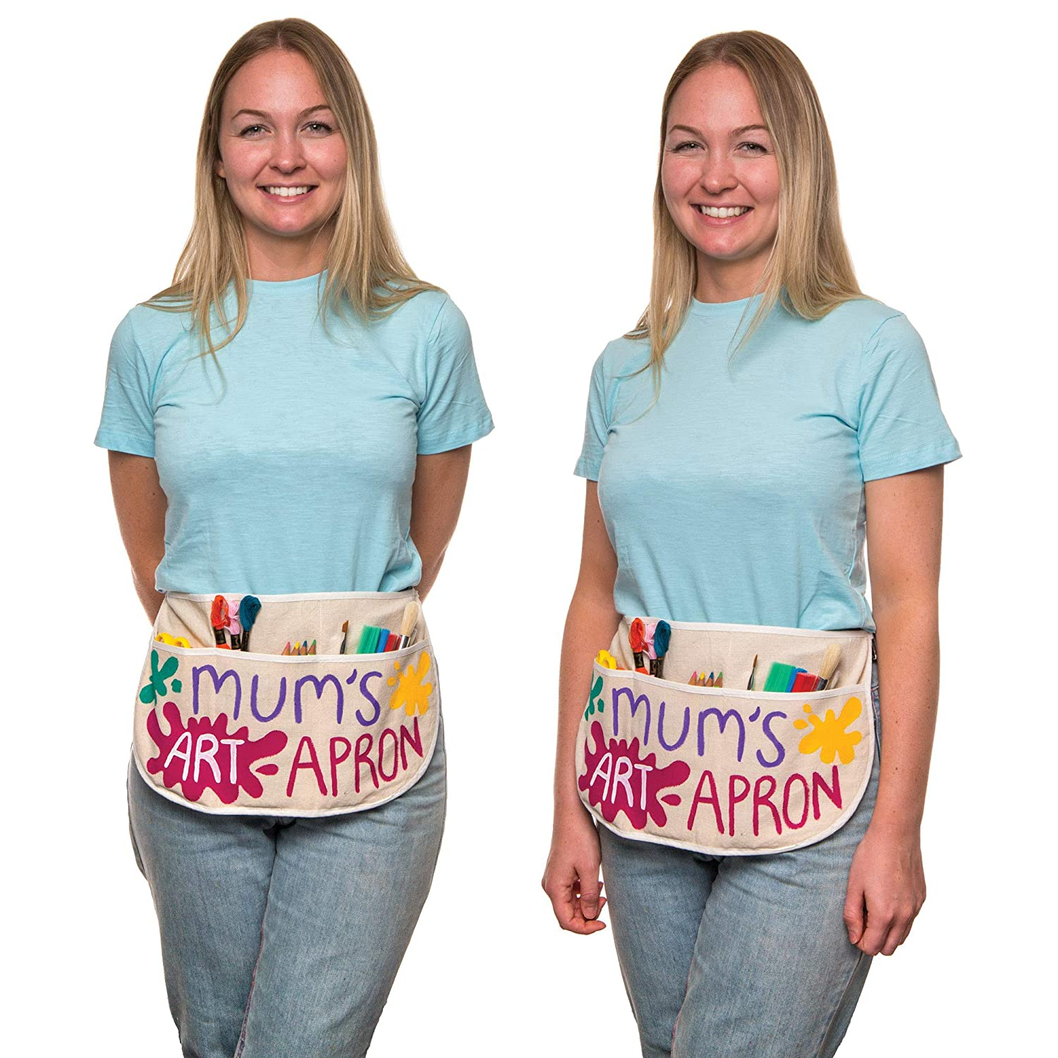 Baker Ross Fabric Waist Aprons Ideal for Cooking for Kids to Decorate and Personalize Pack of 3 Messy Play or Gifting