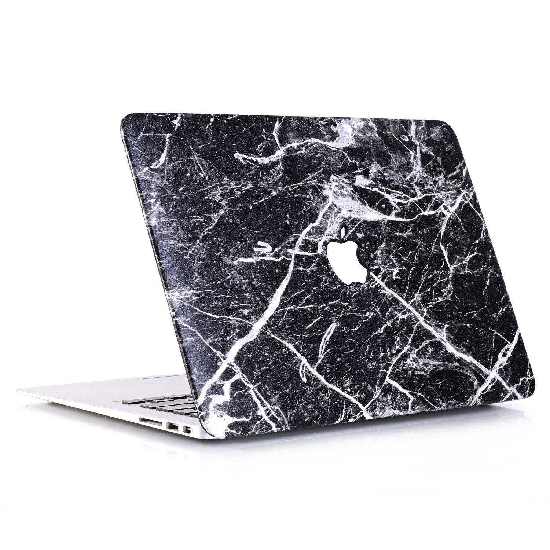Amazon L2W Coque MacBook Pro Occasion Case Laptop Plastique Coque Rigide Housse pour Apple MacBook 2017 Neuf Pro 13 pouces avec Touch Bar (Modèle:A1706) Incluant Transparent couvercle du clavier,Marbre Noir
