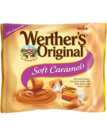 WERTHERS ORIGINAL Soft Caramels, 8.10 Ounce Bag, Individually Wrapped Candy Caramels, Caramel Candy