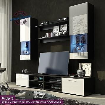 Wohnzimmer Hochglanz Möbel Schrank Set Display Wohnwand Modern Tv