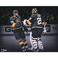 "$149 » Marc-Andre Fleury & Ryan Reaves Vegas Golden Knights Autographed 16"" x 20"" Spotlight Photograph - Autographed NHL Photos"