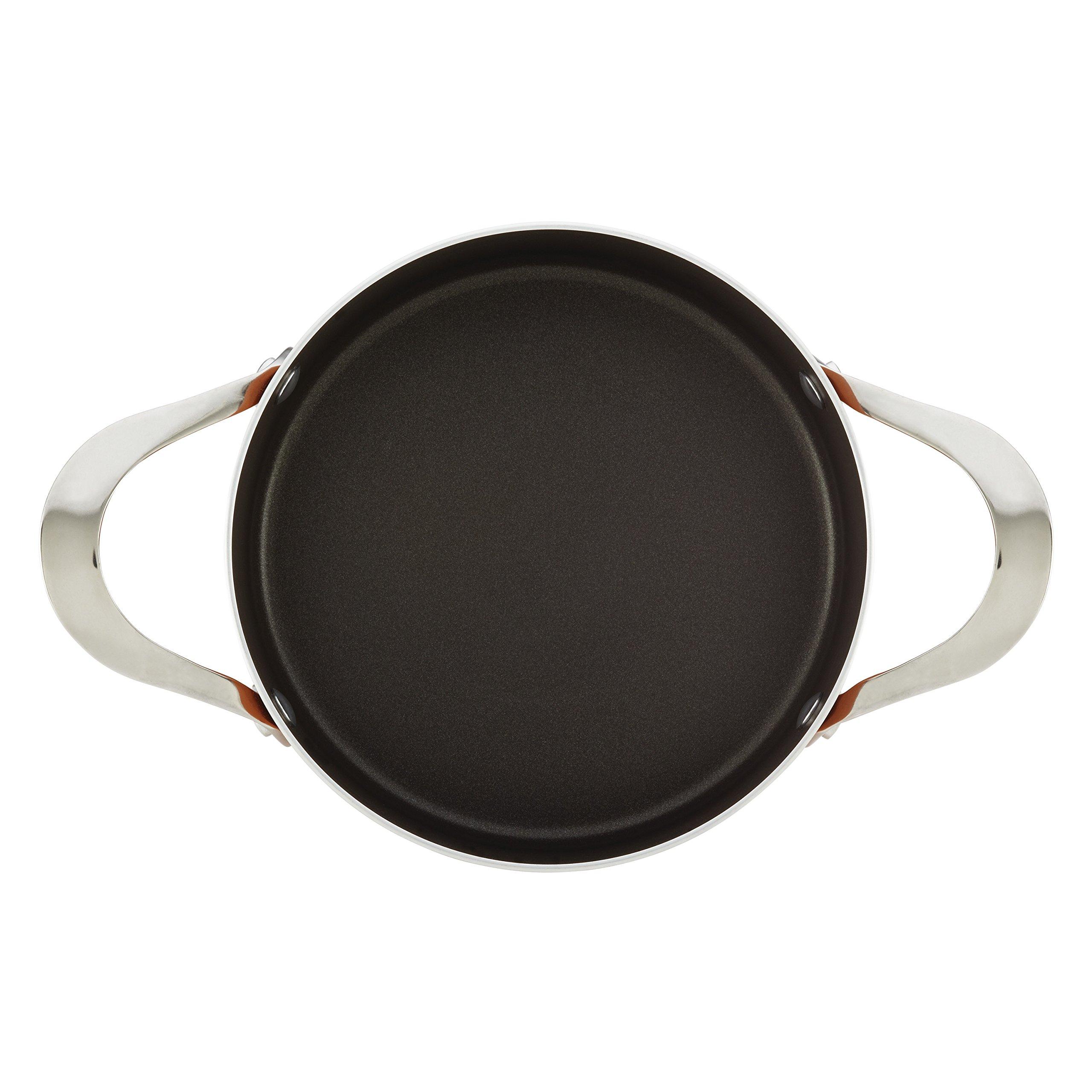 Rachael Ray Cucina Hard Porcelain Enamel Nonstick Covered Round Casserole, 2.5-Quart, Mushroom Brown by Rachael Ray (Image #9)