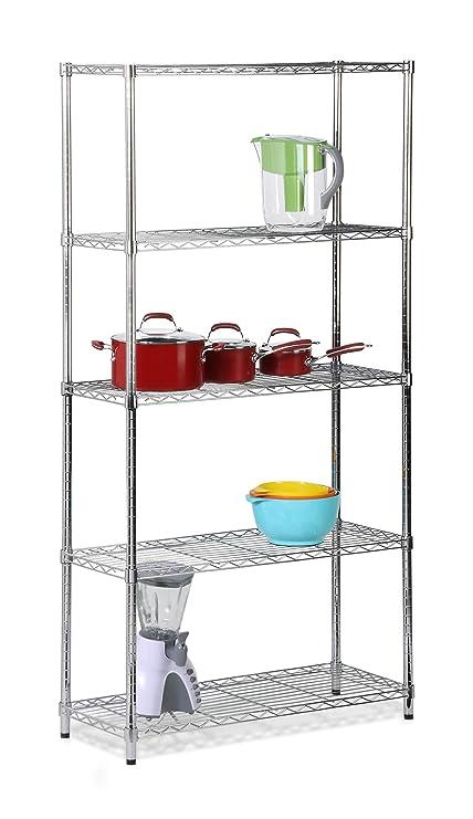honey can do 5 tier shelf 72 inch Amazon.com: Honey Can Do SHF 01443 Adjustable Industrial Storage  honey can do 5 tier shelf 72 inch