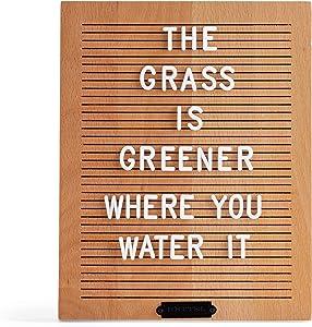 RETTEL Light Wood Letter Board, Trendy Wall Decor, No Felt Letter Board, Home Decor Letter Board (Natural, 8X10)