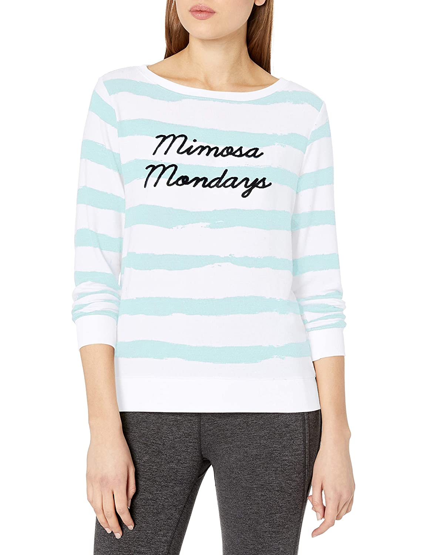 Betsey Johnson Womens Mimosa Mondays Lightweight Pullover
