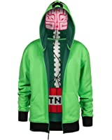 JINX Minecraft Big Boys' Creeper Anatomy Premium Zip-Up Hoodie