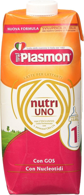 Plasmon Latte Liquido Nutri Uno - 12 Confezioni da 500 ml, Totale:...